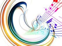 Dynamischer Musik-Auszug Lizenzfreies Stockfoto