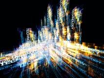 Dynamisches dreidimensionales Lizenzfreie Stockbilder