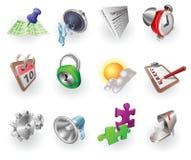 Dynamisches Farben-Web und Anwendungs-Ikonen-Set Stockfotografie