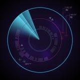 Dynamisches Radar Digital mit Zielen Stockbild