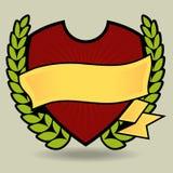 Dynamisches Schild-Emblem stock abbildung