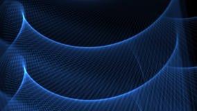 Dynamisches Video des Blaus bewegt auf Schwarzes wellenartig stock video