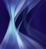 Dynamisk abstrakt bakgrund med att sväva den organiska Wavelike formen Royaltyfria Bilder