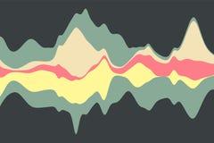Dynamisk abstrakt bakgrund med färgvågor också vektor för coreldrawillustration Arkivbilder