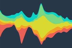 Dynamisk abstrakt bakgrund med färgvågor också vektor för coreldrawillustration Arkivfoton