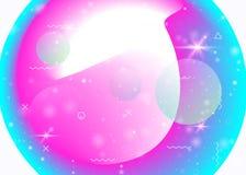 Dynamisk bakgrund f?r v?tska med vibrerande regnb?gelutningar Dynamiskt hologram Holographic kosmos vektor illustrationer