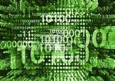 Dynamisk bakgrund med binära koder Arkivfoton