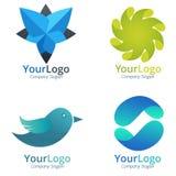 Dynamisk företags logo royaltyfri illustrationer