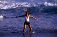 dynamisk flicka 2 Arkivbild