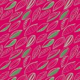 Dynamisk gräsplan och för ikeastil för magentafärgad lövverk skandinavisk modell för klotter vektor illustrationer