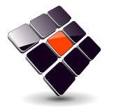 dynamisk logo Arkivbilder