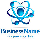 dynamisk logo stock illustrationer