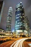 Dynamisk natt för stad Arkivbild