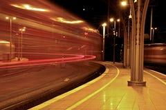 Dynamiska ljusband Fotografering för Bildbyråer