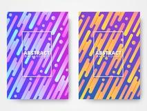 Dynamiskt begrepp för stilaffischdesign Dynamiska formbeståndsdelar med ljus lutningfärg Bakgrundsmall för baner, rengöringsduk, royaltyfri illustrationer