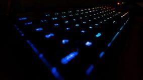 Dynamiskt gjort ljusare tangentbord arkivbild