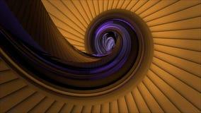 Dynamiskt gult snigelskalobjekt som omkring animeras vektor illustrationer