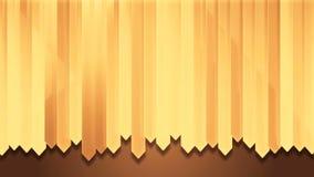 Dynamiskt gult wood bräde för remsaväggdesign stock illustrationer