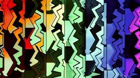 Dynamiskt livligt färgrikt för abstrakt dekorativ mjuk för regnbågefärgflyttning för kvarter rörelse för bakgrund ny kvalitets- u arkivfilmer