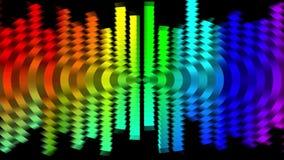 Dynamiskt livligt färgrikt för abstrakt mjuk för regnbågefärgflyttning för skala för kvarter rörelse för bakgrund ny kvalitets- u arkivfilmer