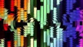 Dynamiskt livligt färgrikt för abstrakt mjuk för regnbågefärgflyttning för skala för kvarter rörelse för bakgrund ny kvalitets- u lager videofilmer