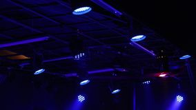 Dynamiskt ljus för konsert stock video