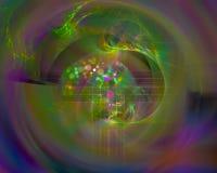 Dynamiskt overkligt för abstrakt för fractalflödeseffekt för disko för fantasi för kurva overklig för färg effekt för fantasi royaltyfri illustrationer