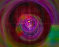 Dynamiskt overkligt för abstrakt för fractalflödeseffekt för disko för kurva overklig för färg effekt för fantasi vektor illustrationer