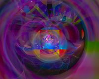 Dynamiskt overkligt för abstrakt för fractalflödeseffekt dröm- för disko för kurva overklig för färg effekt för fantasi royaltyfri illustrationer