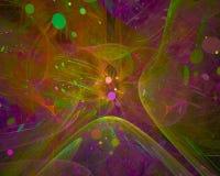 Dynamiskt overkligt för abstrakt för fractalflödeseffekt dröm- för våg för disko för fantasi för kurva overklig för färg effekt f stock illustrationer