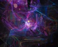 Dynamiskt overkligt för abstrakt för fractalflödeseffekt dröm- för våg för disko för kurva overklig för färg effekt för fantasi royaltyfri illustrationer