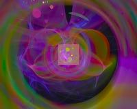 Dynamiskt overkligt för abstrakt för fractalflödeseffekt för våg för disko för fantasi för kurva overklig för färg effekt för fan vektor illustrationer