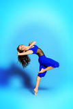 Dynamism. Expressive bellet dancer dancing at studio Stock Photo