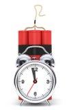 Dynamit with Alarm Clock Detonator Royalty Free Stock Photography