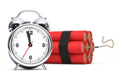 Dynamit with Alarm Clock Detonator Stock Photo