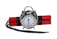 Dynamite and Alarm Clock Bomb Royalty Free Stock Image