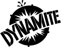 Dynamite Banner Royalty Free Stock Photography