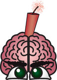 Dynamite Brain Royalty Free Stock Photo
