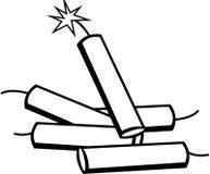 Dynamite cartridges vector illustration Stock Image