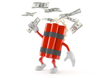 Dynamite character with money Stock Photos