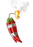 Dynamite de poivre Images libres de droits
