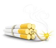 Dynamite de vecteur effectuée à partir des cigarettes illustration libre de droits