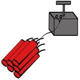 Dynamite and detonator Royalty Free Stock Photo