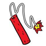 Dynamite. Cartoon illustration isolated on white Stock Image