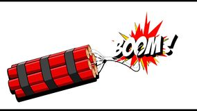 Free Dynamite Explosion Boom 2D Cartoon Animation On A Background. MOV Royalty Free Stock Photography - 89487817