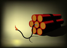 Dynamite explosion cartridge Stock Images