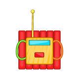 Dynamite explosives icon, cartoon style Royalty Free Stock Image