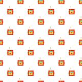 Dynamite explosives pattern, cartoon style Stock Photography