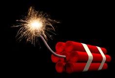 Dynamite fuse burning Royalty Free Stock Photo