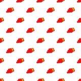 Dynamite pattern, cartoon style. Dynamite pattern. Cartoon illustration of dynamite vector pattern for web Stock Photos
